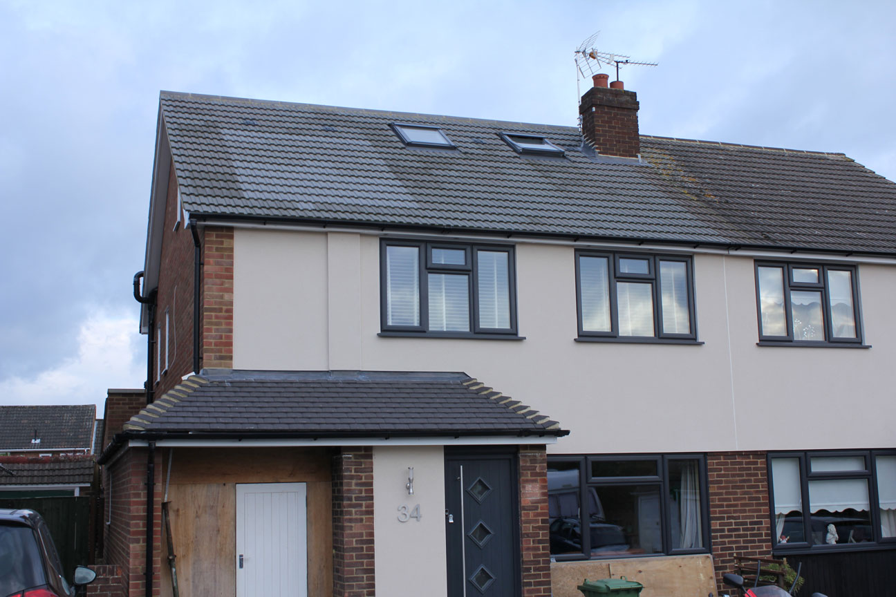 Cheshunt Hip to Gable loft conversion and extension project